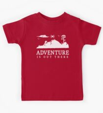 Adventure Is Out There Walking Hiking Trekking T Shirt Kids Tee
