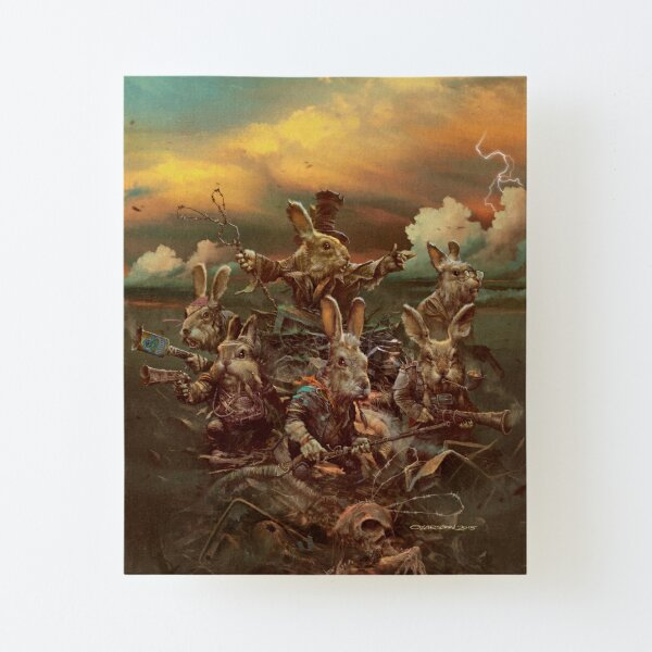 Rubbit Hill Canvas Mounted Print