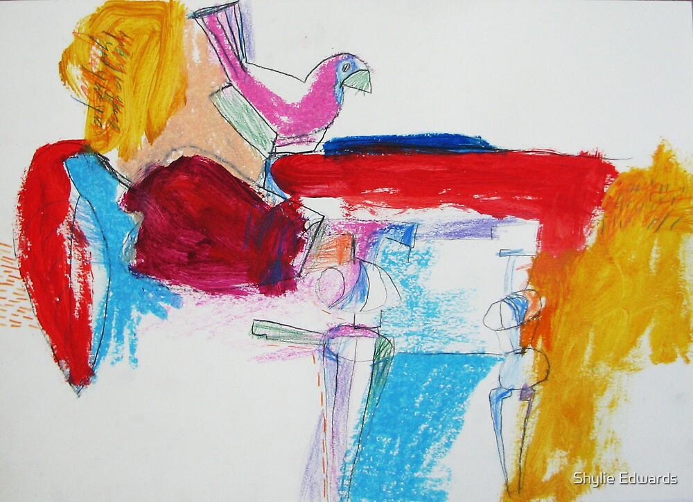 bird on nest of tables by Shylie Edwards