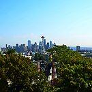 Kerry Park on Queen Anne View of Seattle von William Carney