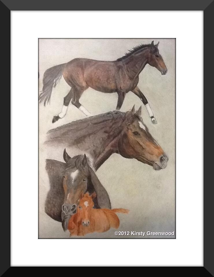 """""""A Charmed Study"""" Pencil on paper by Kirsty Greenwood by KirstyGreenwood"""