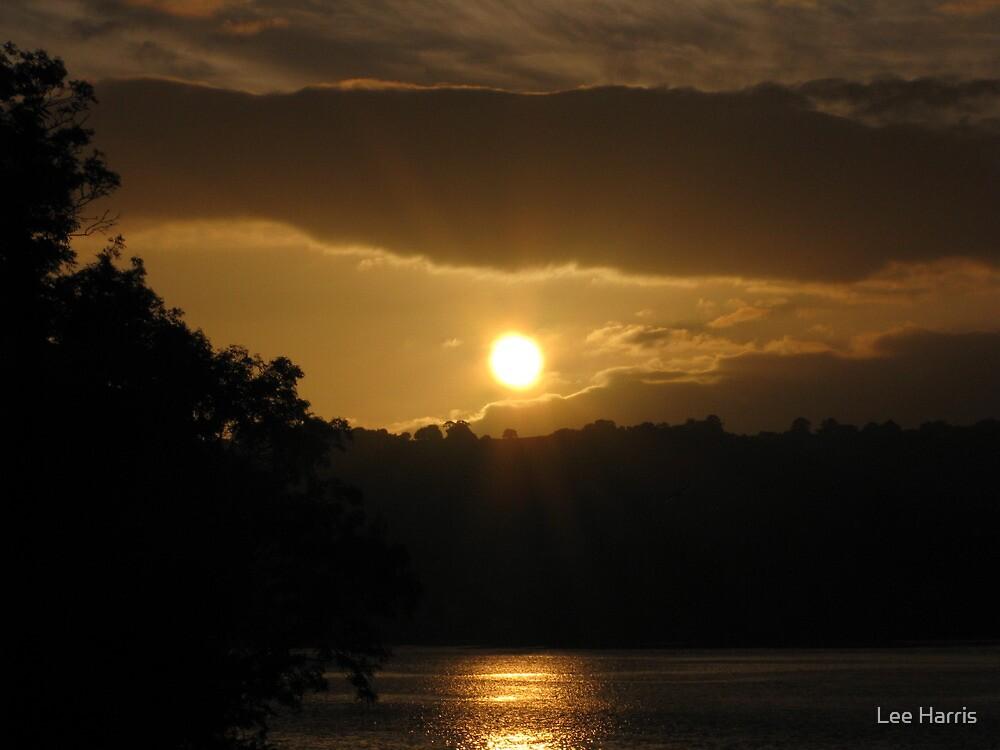 Sunset over Shaldon by Lee Harris