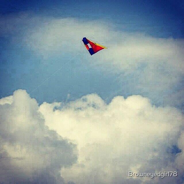 High flying kite by Browneyedgirl78