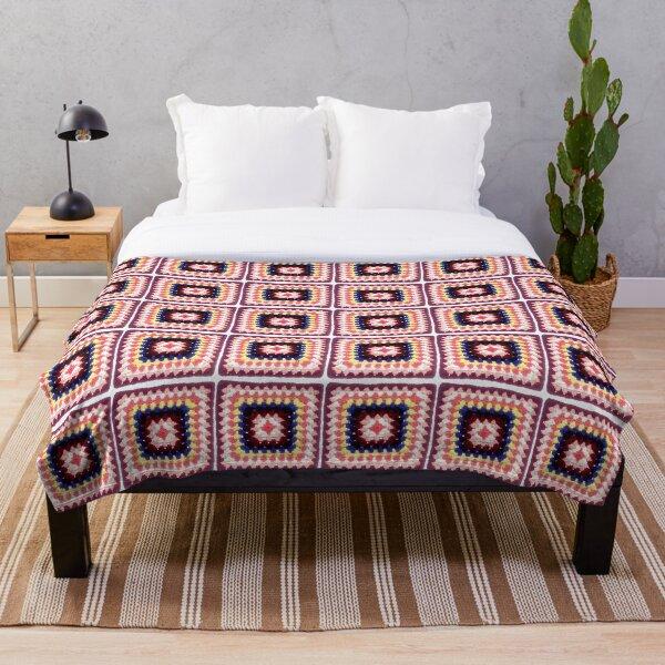Retro Rock Your Granny! Crochet Vintage Granny Square Throw Blanket