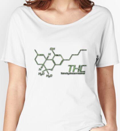 THC Molecule Women's Relaxed Fit T-Shirt