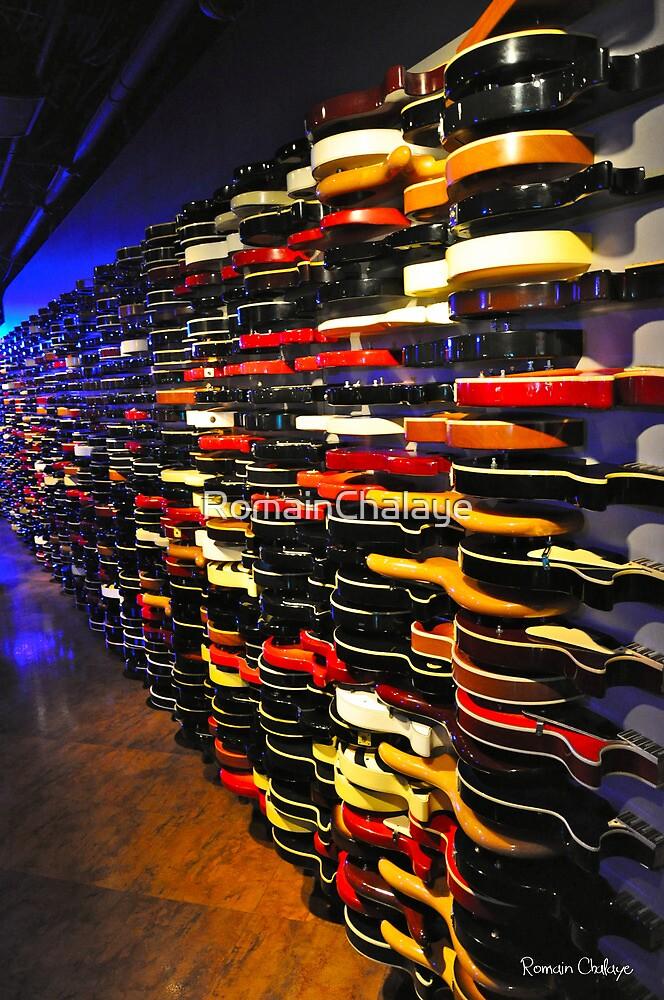 The Guitar Wall by RomainChalaye