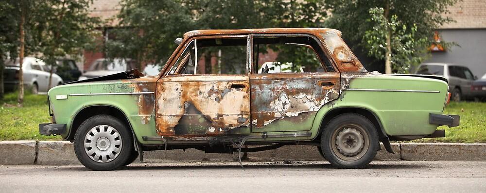burned-out car by mrivserg