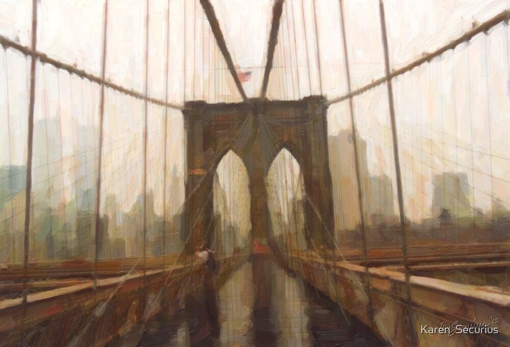 Brooklyn Bridge '99 by Karen  Securius