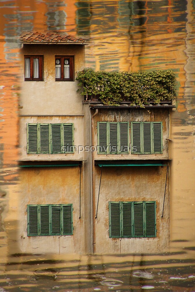 Little Houses over The Ponte Vecchio, Florence, Italy by simpsonvisuals