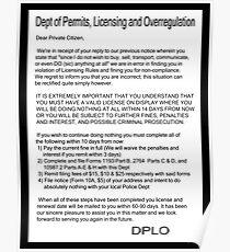 dept of overregulation letter t Poster