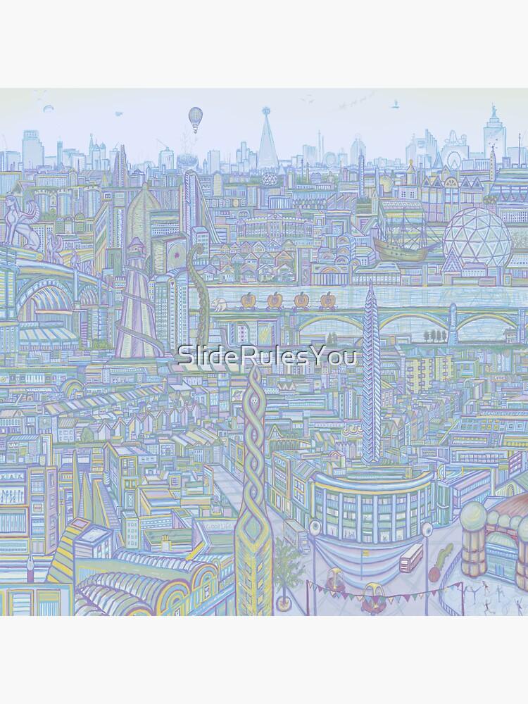 THE MEGATROPOLIS (cool hues) by SlideRulesYou