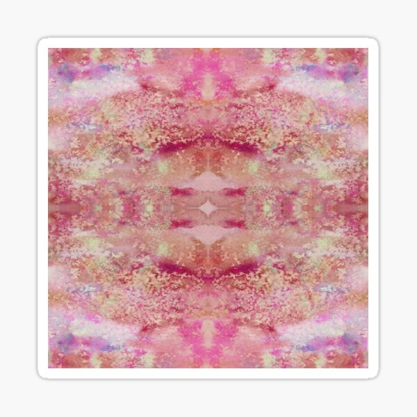 Abstract psychedelic mixed media art Sticker
