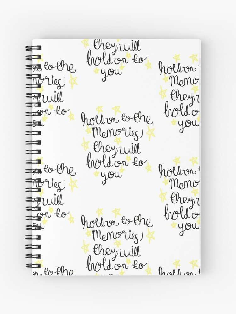 Taylor Swift New Years Day Lyric Art Spiral Notebook By M Mmeghan Redbubble