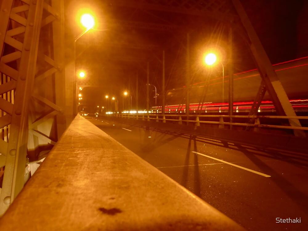 Nowra Bridge at Night 2 by Stethaki