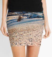 Smooth hills in winter wonderland Mini Skirt