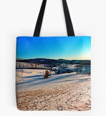 Smooth hills in winter wonderland Tote Bag