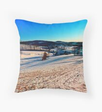 Smooth hills in winter wonderland Throw Pillow