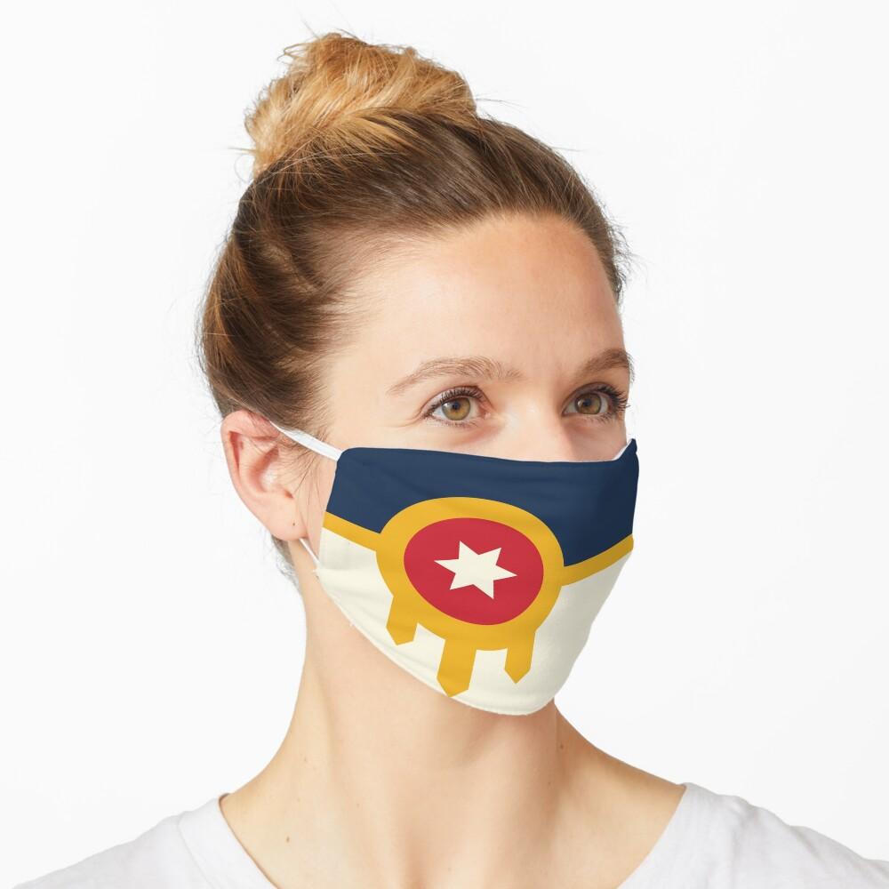 TheCoffeeCupLife:The Official Flag of Tulsa,Oklahoma Mask