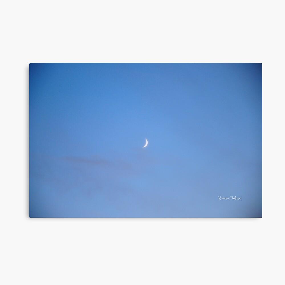 Waning crescent moon Lienzo