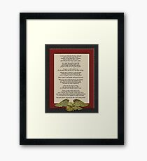 Live your life, Chief Tecumseh Framed Print