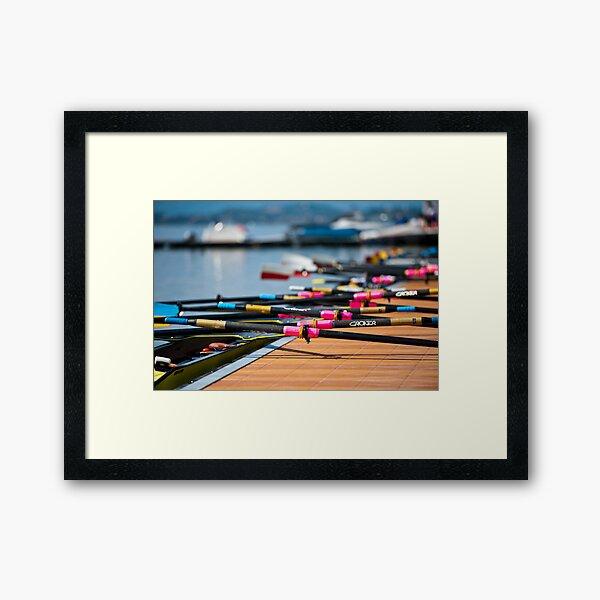 Rowing Framed Art Print