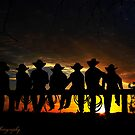 Sunset cowboys by Kym Howard