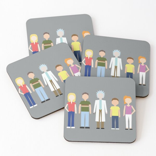 Rick & Morty: The Smith Family Coasters (Set of 4)