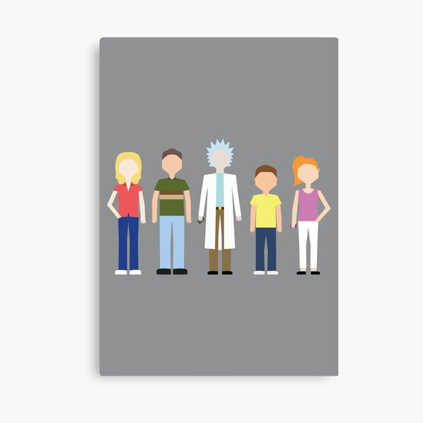 Rick & Morty: The Smith Family Canvas Print