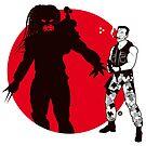 Predator Cartoon Style by Alain Bossuyt
