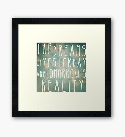 Dreams Of Yesterday Framed Print