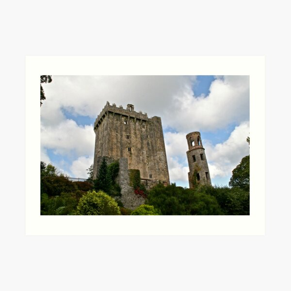 Blarney Castle and the Keepers Watch Tower, County Cork, Ireland Art Print