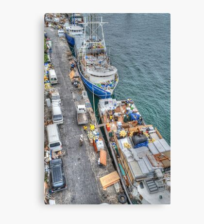Loading Day at Potter's Cay Dock in Nassau, The Bahamas Canvas Print