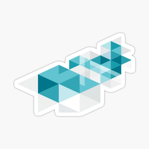 Geometric cube Sticker