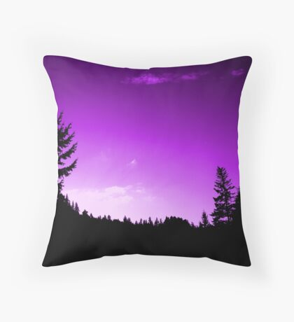 Purple Skies (available in ipad) Throw Pillow