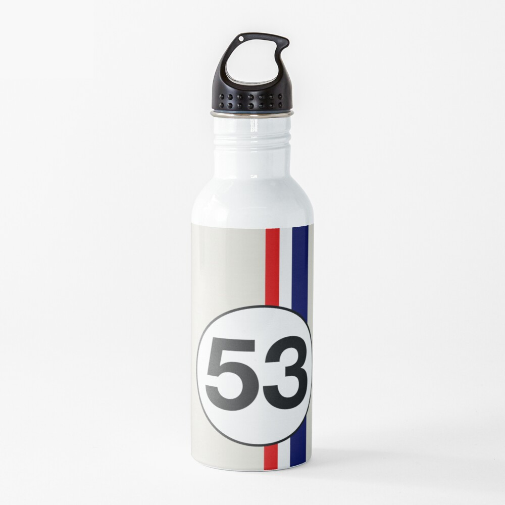 Herbie 53 Racing stripes Water Bottle