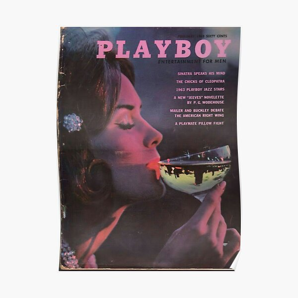 Playboy Vintage Cover February 1963 Poster