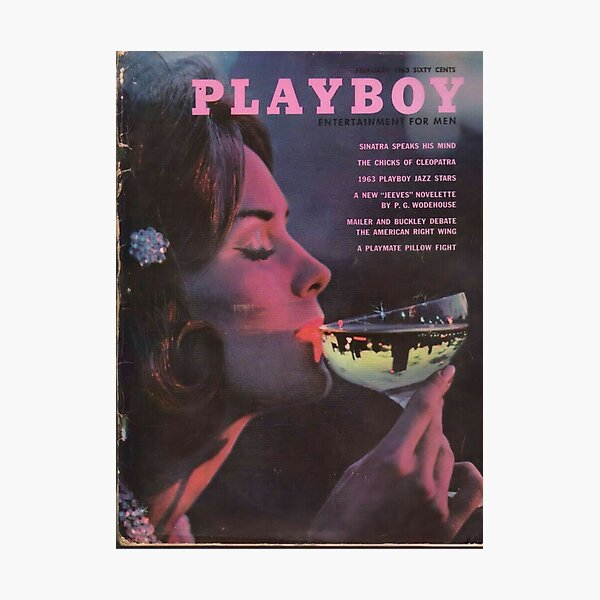 Playboy Vintage Cover February 1963 Photographic Print