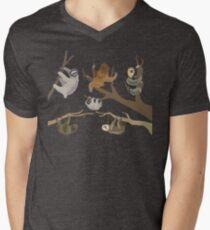 Camiseta de cuello en V Conoce a tus perezosos