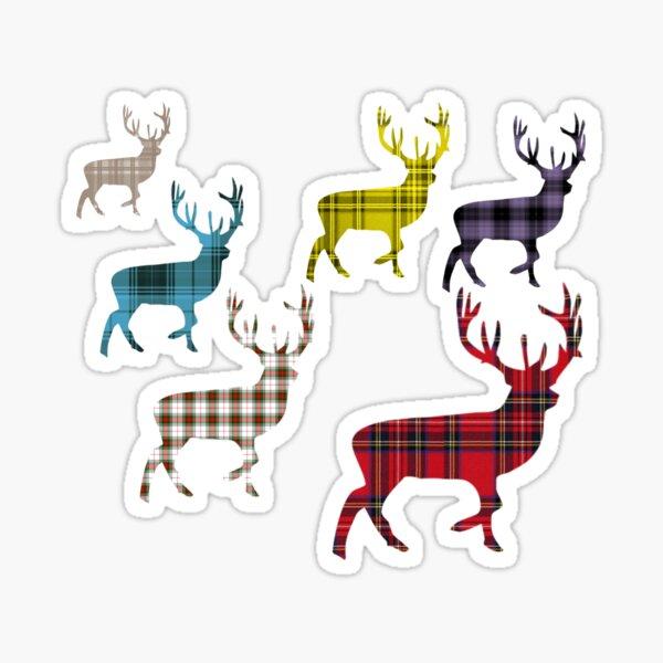 Tartan Stag Plaid Pattern Scotland Sticker