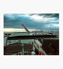 Aft Anti-Aircraft Gun Photographic Print