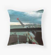Aft Anti-Aircraft Gun Throw Pillow