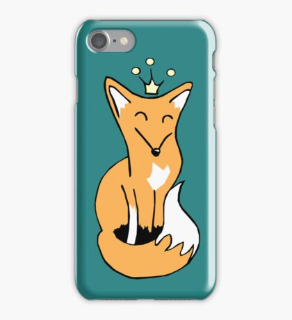 Red Fox King iPhone Case/Skin