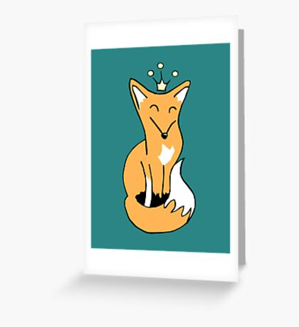 Red Fox King Greeting Card