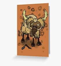 Shaved Beefalo, don't starve Greeting Card