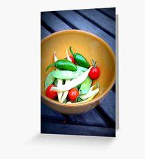 garden vegetables Greeting Card