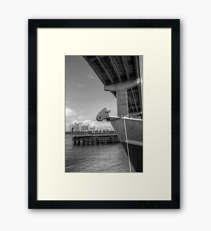 View of Atlantis from under the bridge at Potter's Cay - Nassau, The Bahamas Framed Print