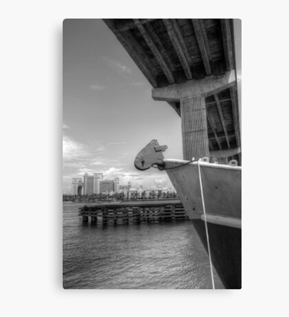 View of Atlantis from under the bridge at Potter's Cay - Nassau, The Bahamas Canvas Print