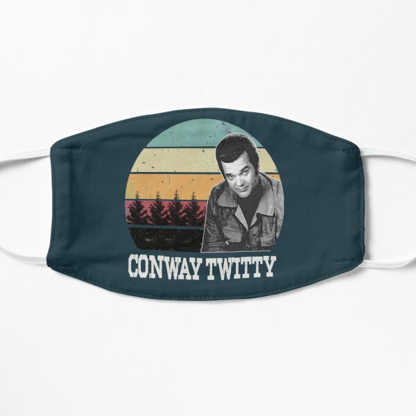vintage conway twitty Flat Mask