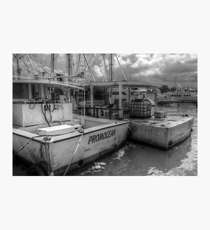Fishing Boats at Potter's Cay in Nassau, The Bahamas Photographic Print