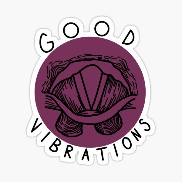 Vocal Folds Good Vibrations Sticker